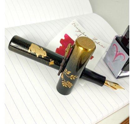 Ap Limited Pre-Owned AP Limited Edition Maki-e Zodiac Rabbit Fountain Pen