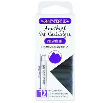 Monteverde Monteverde Ink Cartridges Amethyst - Set of 12