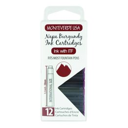 Monteverde Monteverde Ink Cartridges Burgundy - Set of 12