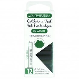 Monteverde Monteverde Ink Cartridges California Teal - Set of 12