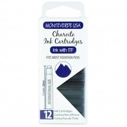 Monteverde Monteverde Ink Cartridges Charoite - Set of 12