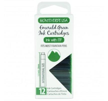 Monteverde Monteverde Ink Cartridges Emerald Green - Set of 12