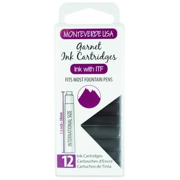 Monteverde Monteverde Ink Cartridges Garnet - Set of 12