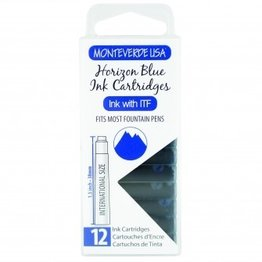 Monteverde Monteverde Ink Cartridges Horizon Blue - Set of 12