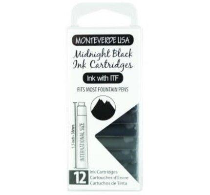 Monteverde Monteverde Ink Cartridges Midnight Black - Set of 12