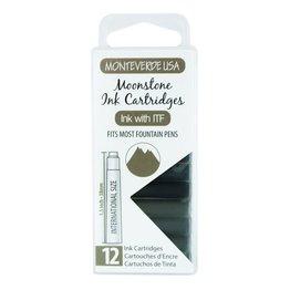 Monteverde Monteverde Ink Cartridges Moonstone - Set of 12