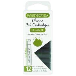 Monteverde Monteverde Ink Cartridges Olivine - Set of 12
