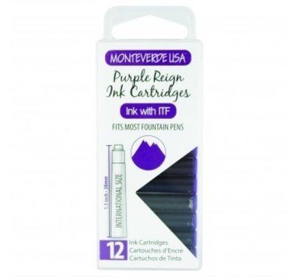 Monteverde Monteverde Ink Cartridges Purple Reign - Set of 12