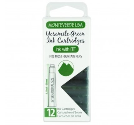 Monteverde Monteverde Ink Cartridges Yosemite Green - Set of 12