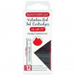 Monteverde Monteverde Ink Cartridges Valentine Red - Set of 12
