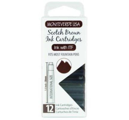 Monteverde Monteverde Ink Cartridges Scotch Brown - Set of 12