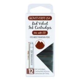 Monteverde Monteverde Ink Cartridges Red Velvet - Set of 12