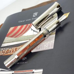 Faber-Castell Pre-Owned Graf Von Faber Castell Pen of the Year 2017 Viking Platinum Plated Fountain Pen
