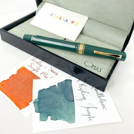 Pre-Owned Omas Arte Italiana Milord Green Fountain Pen