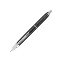 Pilot Pilot Vanishing Point Black Carbonesque Fountain Pen with Rhodium Trim