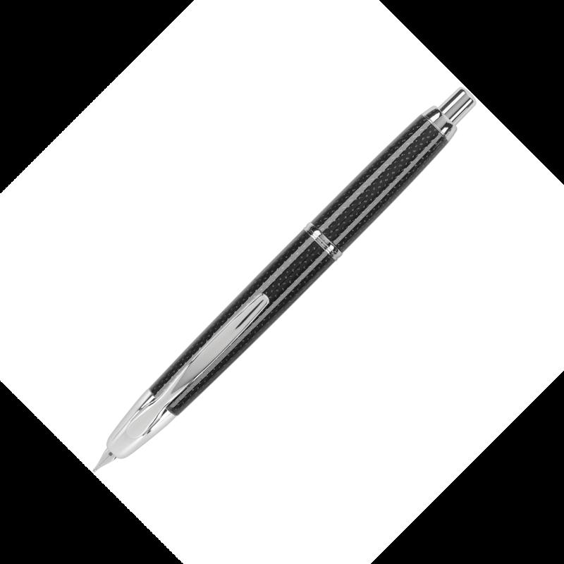Pilot Pilot Vanishing Point Black Carbonesque Fountain Pen with Rhodium Trim