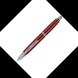 Pilot Pilot Vanishing Point Red Fountain Pen with Rhodium Trim
