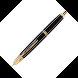 Pilot Pilot Vanishing Point Black Fountain Pen with Gold Trim