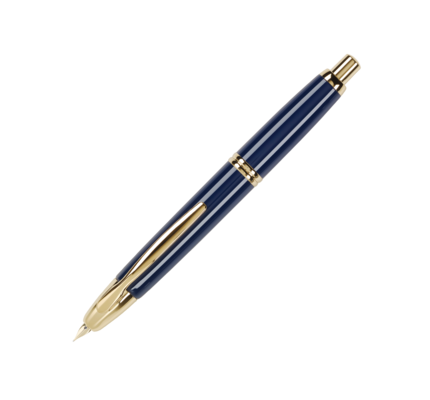 Pilot Pilot Vanishing Point Blue Fountain Pen with Gold Trim