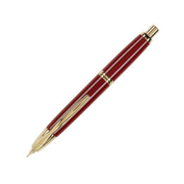 Pilot Pilot Vanishing Point Red Fountain Pen with Gold Trim