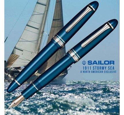 Sailor Sailor 1911 Standard Stormy Sea Fountain Pen 14K Gold Nib with Rhodium Plating