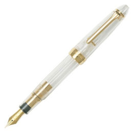 Sailor Sailor 1911 Large Demonstrator Fountain Pen 21K Gold Nib with Gold Plating