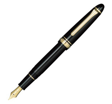 Sailor Sailor 1911S Standard Black Fountain Pen 14K Gold Nib with Gold Plating