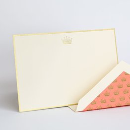 Crane Crane Downton Abbey Engraved Crown Correspondence Card