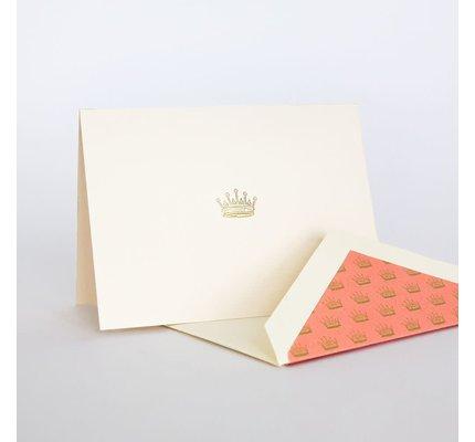 Crane Downton Abbey Engraved Crown Note