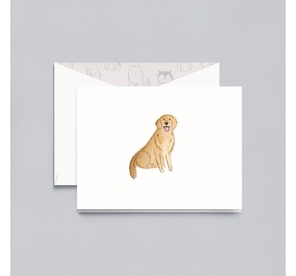 Crane Crane Pearl White Gold Retriever Note