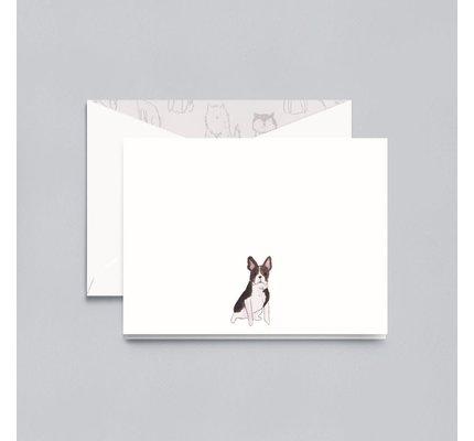 Crane Crane Pearl White French Bulldog Note