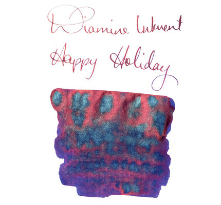 Diamine Diamine Blue Edition Shimmering Happy Holidays - 50ml Bottled Ink