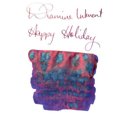 Diamine Diamine Blue Edition Shimmering Happy Holidays - 50ml Bottled Ink