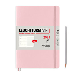 Leuchtturm1917 Leuchtturm1917 2021 Powder Softcover A5 Medium Weekly Planner and Notebook