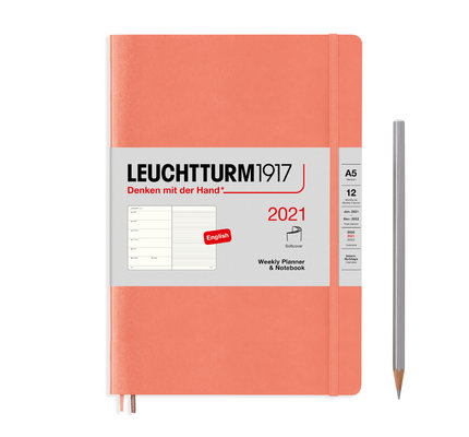 Leuchtturm1917 Leuchtturm1917 2021 Bellini Softcover A5 Medium Weekly Planner and Notebook