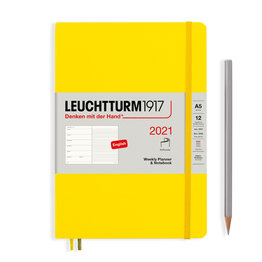 Leuchtturm1917 Leuchtturm1917 2021 Lemon Softcover A5 Medium Weekly Planner and Notebook