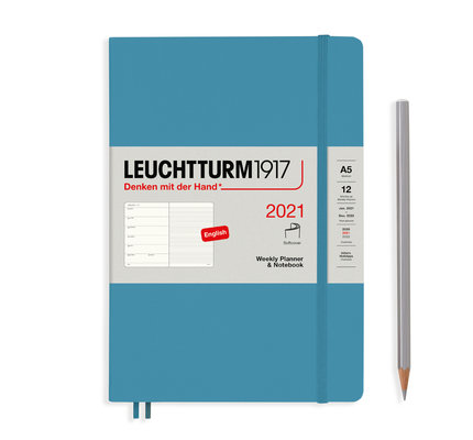 Leuchtturm1917 Leuchtturm1917 2021 Denim Softcover A5 Medium  Weekly Planner and Notebook