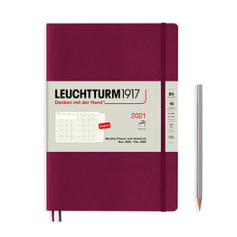 Leuchtturm1917 Leuchtturm1917 2021 Port Red B5 Composition Monthly Planner and Notebook