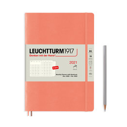 Leuchtturm1917 Leuchtturm1917 2021 Bellini Peach B5 Composition Monthly Planner and Notebook