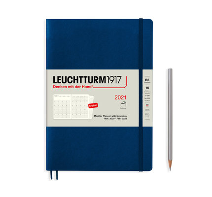 Leuchtturm1917 Leuchtturm1917 2021 Navy B5 Composition Monthly Planner and Notebook