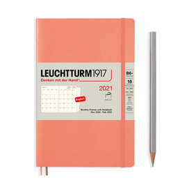 Leuchtturm1917 Leuchtturm1917 2021 Bellini B6+ Paperback Monthly Planner and Notebook