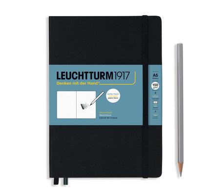 Leuchtturm1917 Leuchtturm1917 Black A5 Medium Sketchbook