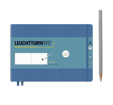 Leuchtturm1917 Leuchtturm1917 Denim A5 Medium Landscape Sketchbook