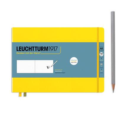 Leuchtturm1917 Leuchtturm1917 Lemon A5 Medium Landscape Sketchbook