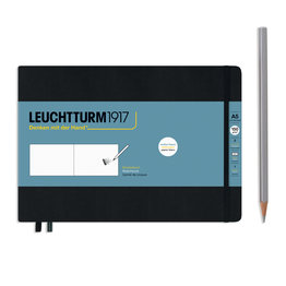 Leuchtturm1917 Leuchtturm1917 Black A5 Medium Landscape Sketchbook
