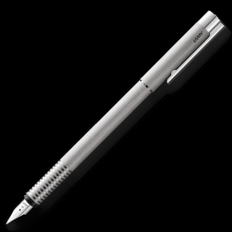 Lamy Lamy Logo Brushed Stainless Steel Fountain Pen