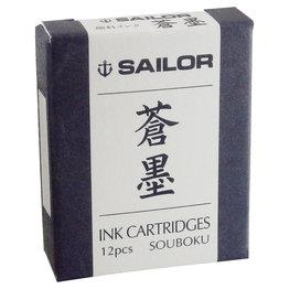Sailor Sailor Souboku Pigment Ink Cartridge Blue/Black