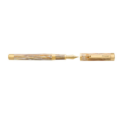 Montegrappa Montegrappa Zero North American Exclusive Caramel and Yellow Gold Plated Fountain Pen 14K Gold Nib