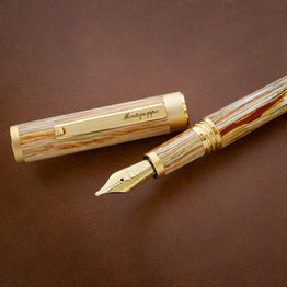 Montegrappa Montegrappa Zero North American Exclusive Caramel and Yellow Gold Plated Fountain Pen