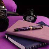 Aurora Aurora Optima Viola Marbled Purple Auroloide Fountain Pen